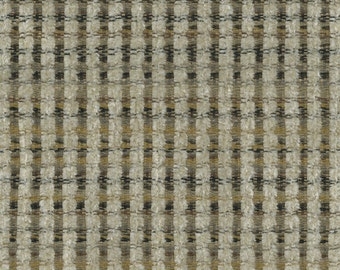 Woven Soft Striped Chenille Upholstery Fabric - Economical, Durable, Easy Clean - Color: Gable Oytser - Per yard