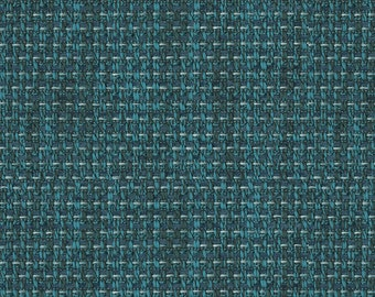 Basket Weave Upholstery - Embodies textures with an eclectic modern vibe - Very Durable, Washable - Color: Turquoise - per yard