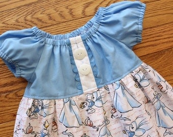 Spring 2016 Girl's Toddlers Cinderella Peasant Dress