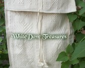 "WHITE COTTON Boho Cross Body Shoulder Bag Mexico Handwoven 13"" x 17"" Market Tote Lap Top Book Bag Vintage Guatamalan Immaculate Condition"