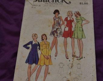 Butterick 3068 - 1970s dress Pattern - SIZE 14