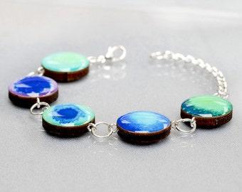 Beautiful Bracelet in Cool Blue colours
