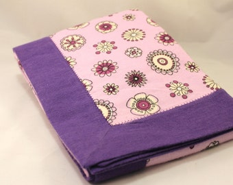 Double Layer Purple Receiving Blanket~ Snuggle Flannel