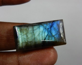 Labradorite Blue Fire  - Gemstone Cabochon Huge size - 17x32mm - High 8 mm - AAA Quality Wholesale Price 100% Natural