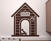 ON SALE - Personalized Indoor Dog House  Wall Decal - Custom Doggie Decor - FREE Shipping!