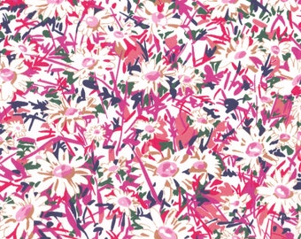 "Liberty Tana Lawn fabric DAISY FIELD - 17"" wide x 13"" (43cm x 33cm) - Limited Edition"