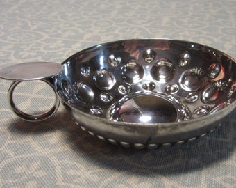 Vintage Silverplate Cup with Handle with Relief and Embossed Metalwork