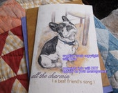 all the charmin' ( a best friend's song ) french bulldog cards/  journey cards/sentimental cards/unique empathy condolence cards