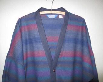 Vintage Pendleton Wool Jacket // Raglan Sleeves // Lightweight Jacket...L