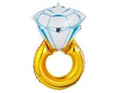 Engagement Diamond Ring Large Balloon, Bridal Shower Balloons, Bachelorette Party Decor, Wedding Photo Prop, Engagement Photo Props