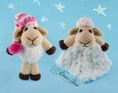 Combo Pack - Chloe the Sheep Lovey and Amigurumi Set for 5.99 Dollars - PDF Crochet Pattern Instant Download - Special Offer