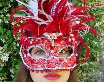 One of a Kind - Red Love Masquerade Collectible Mask