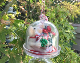 CHRISTMAS ORNAMENT Table Decor Hostess gift Needle Felted Mouse