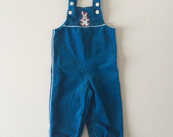 Clearance 1980's Bunny Overalls (12 months)