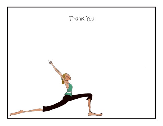 Custom Flat Notecards, Custom Note Card With Envelopes, Personalized Flat Note Cards, Yoga Teacher Gift, Personalized Cards Stationary, Yoga