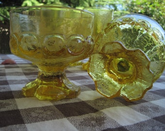 8 Piece Tiffin Franciscan Madeira Footed Iced Tea Goblet Cornsilk Yellow