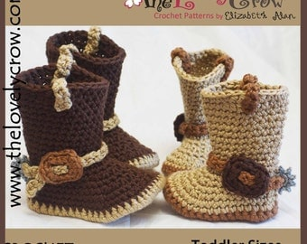 Crochet Pattern TODDLER Cowboy Boots