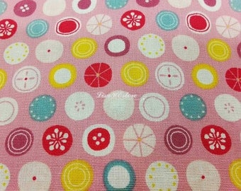Pompom, pink, fat quarter, pure cotton fabric