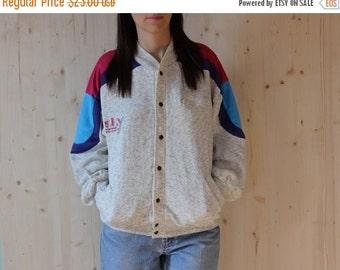 SALE Cotton Bomber Jacket 90s Varsity Jacket