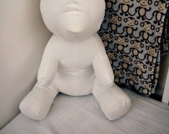 """Handmade 22"""" Tall Plush-Able Teddy Bear.  Any Fabric You Choose"""