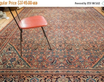HAPPY SUMMER 10% OFF Discounted 9.5x11.5 Vintage Mahal Carpet