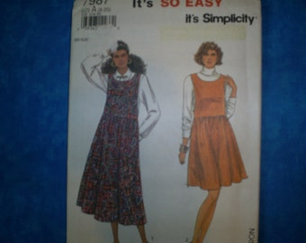 Simplicity 7987 Miss Size 8-10 Jumpers.