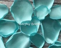 Aqua Wedding Fabric Flower Petals, Wedding Decoration, Misty Aqua, Wedding Accessory, Baby Shower Decoration