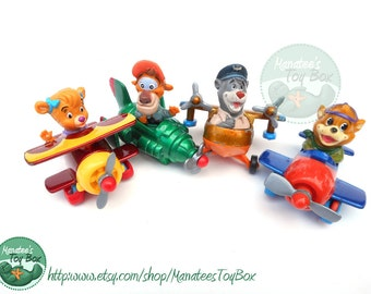 1980s TaleSpin Planes Set of 4 from Disney and McDonalds with Baloo Molly Kit Cloudkicker and Wildcat