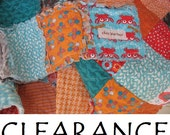CLEARANCE - rag quilt PICNIC PLAY - Ready to Ship - Designer Fabrics