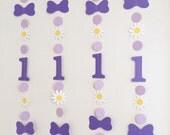 Daisy Duck inspired 1st birthday Decor - Daisy Duck  birthday garland - Daisy Birthday decor - 2nd 3rd 4th birthday - bows/Daisies Backdrop
