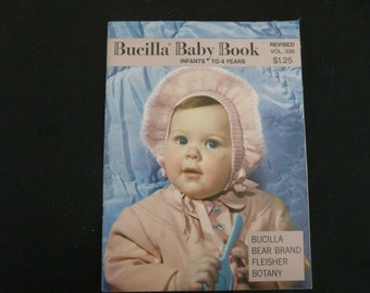 Bucilla Baby Book - Infants to 4 Years - Knitting Patterns (1950)