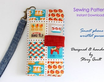 Easy pattern | Cell phone wallet | PDF Sewing Pattern | Gadget Pouch Pattern | Mobile Phone Pouch Pattern | Cell Phone Pouch