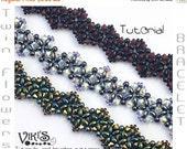 30% off SALE Twin Flowers Bracelet Tutorial with Twin beads: Twin Flowers ( INSTANT DOWNLOAD Pdf)