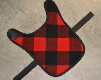 Extra Large Dog Coat - XL Wool Dog Coat - Buffalo Plaid Dog Coat Jacket Sweater red black - Warm Dog Coat - wool dog jacket wool dog sweater