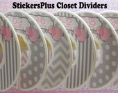 6 Baby Closet Dividers Organizers Assembled or DIY PreCut Pink Grey Elephant Chevron Dots Baby Shower Nursery Gift Clothes Organizer CL032