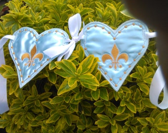 Fleur-de-lys Wedding Car Banner Decoration