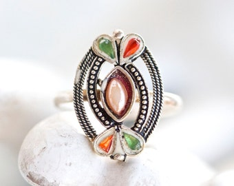 Indian Ring - Size 6.5 - Vintage Boho Jewelry