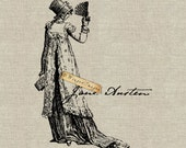 Jane Austen Autograph Instant Download Digital Image No.137 Iron-On Transfer to Fabric (burlap, linen) Paper Prints (cards, tags)