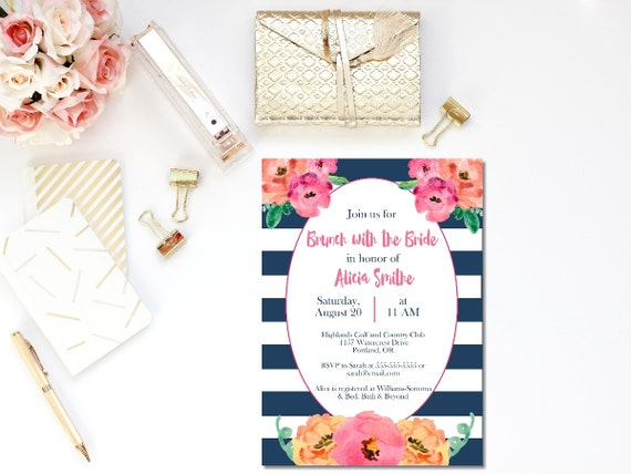 Printable bridal brunch invitation brunch with the bride invite il570xn filmwisefo