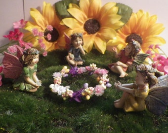 Fairy Flower Dancing Ring and 4 Fairies