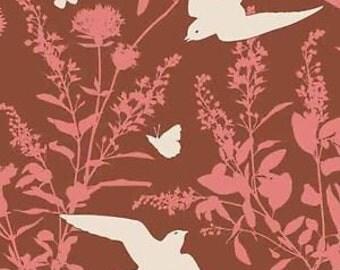 54017 - Joel Dewberry Bungalow collection PWJD070 Swallow studyin ch estnut  color - 1 yard