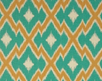 54027 - Joel Dewberry Botanique collection PWJD083  Aztec Ikat in Teal color - 1 yard