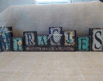 MIRACLES Word Block Sign