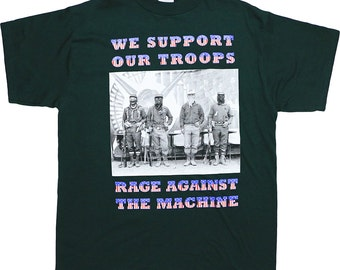 rage against the machine shirt vintage tshirt rare 1990s we support our troops tom morello zack - Support Our Troops Silicone Bracelet