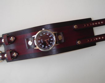 Johnny Depp Leather cuff watch band customisable