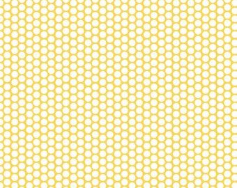 SALE - Fitted Crib Sheet - Yellow Honeycomb Dots