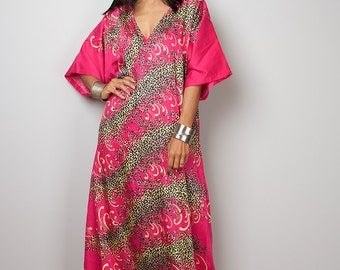 Pink Dress / Pink Boho Dress / Kaftan Maxi Dress : Bohemian Kaftan Collection no. 3