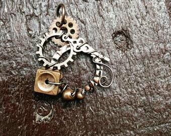 Square Nut Steampunk Pendant