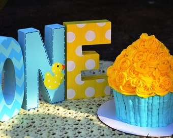 Rubber Duck - Ducky - First Birthday - Photo Prop - Wooden - Hand Painted