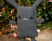 Stuffed bunny rabbit toy, Easter bunny stuffy doll, Kawaii bunny animal, Cute rabbit toy usagi lapin, White Gray Brown Black Charcoal Tan